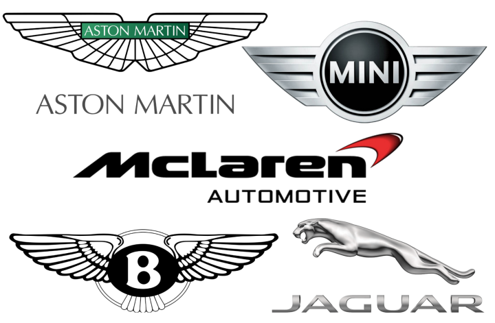 British car brands logos