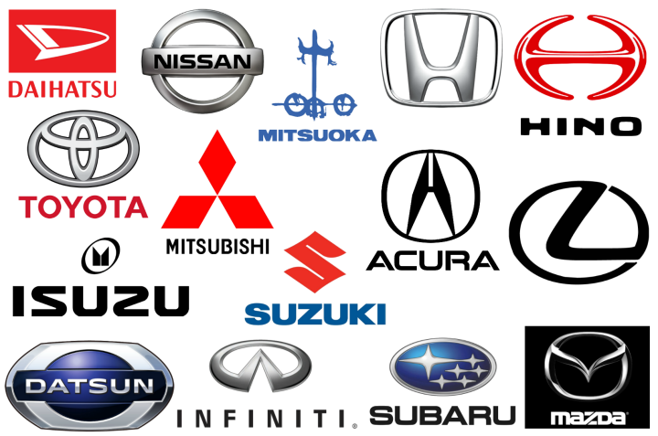 Japanese car brands logos