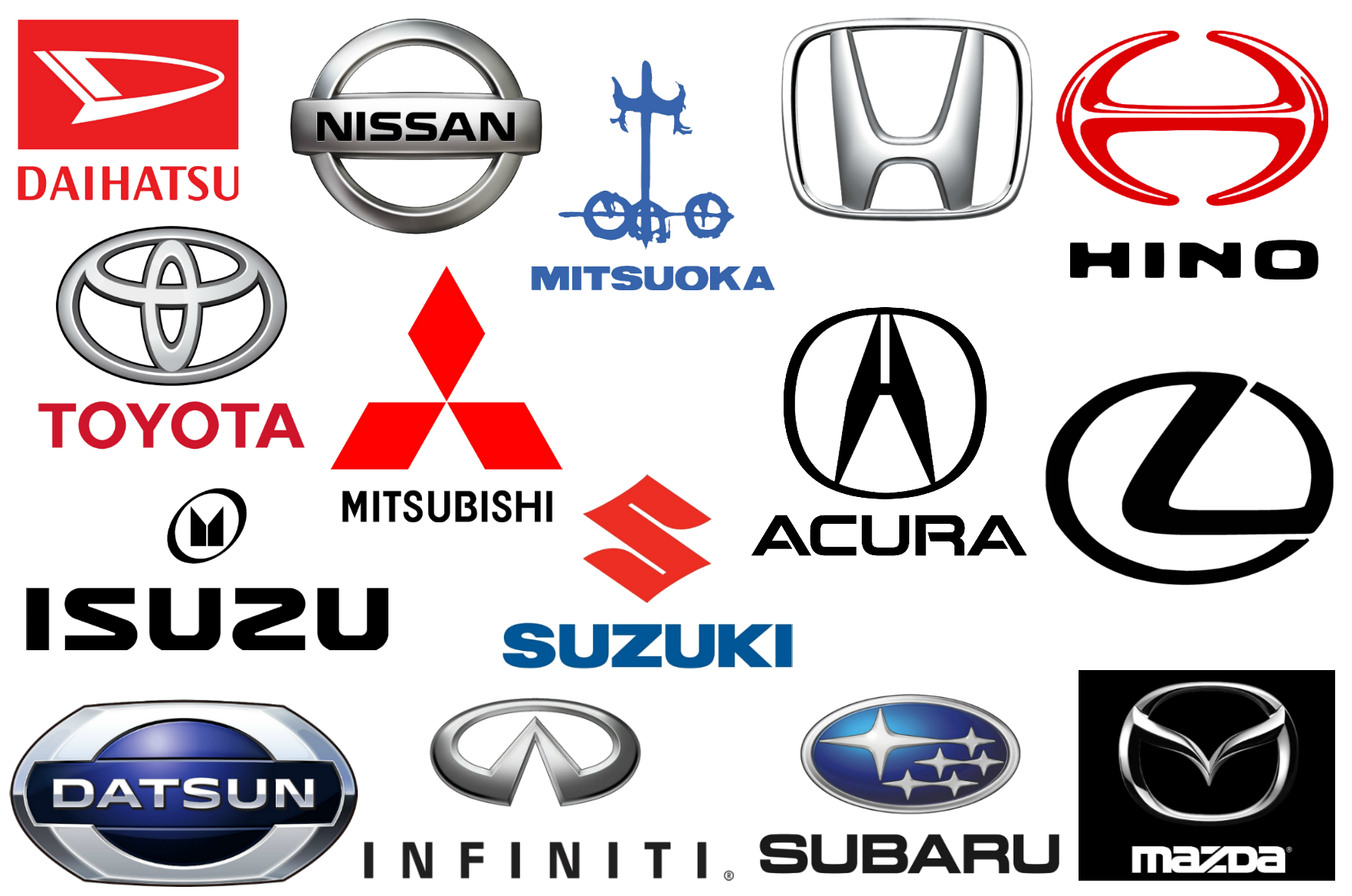 Anese Car Brands Logos