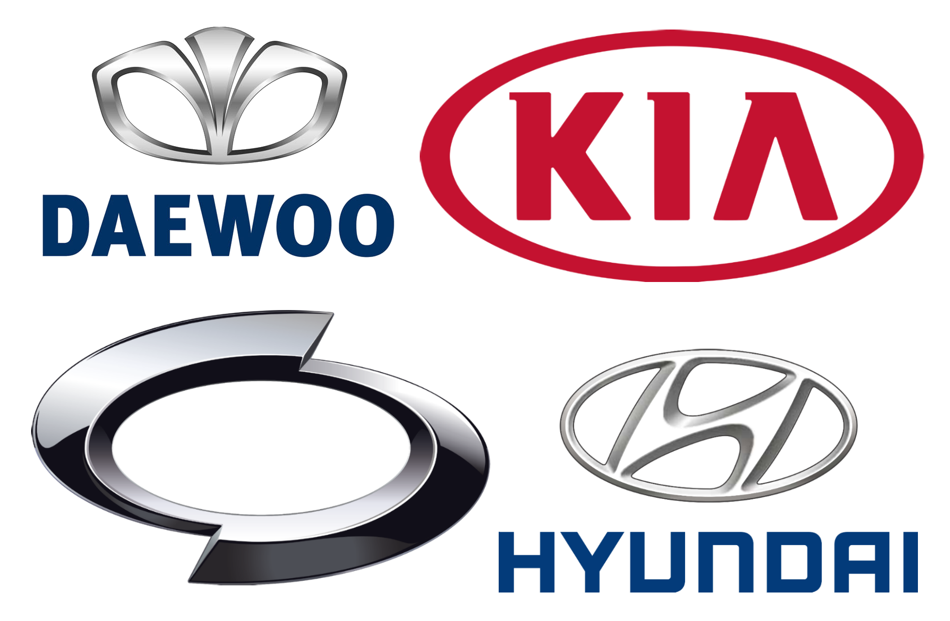 Korean car brands companies and manufacturers car brand names south corean car brand logos voltagebd