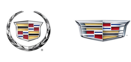 Cadillac New and Old Logos