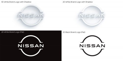 Nissan logo versions