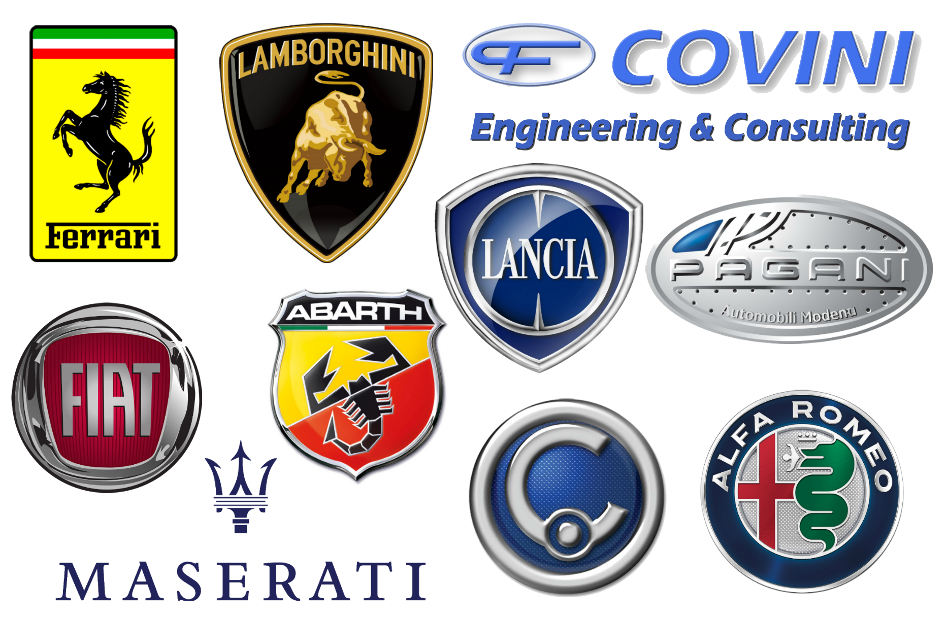 Car Logos And Their Brand Names >> Italian Car Brands, Companies and Manufacturers | Car Brand Names.com