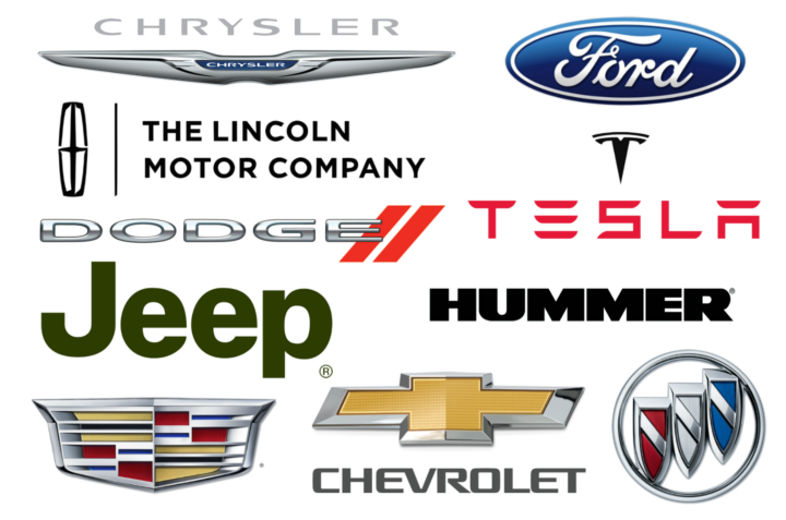 The most popular brands of the american cars