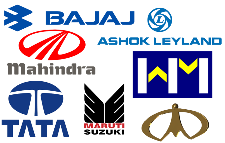Indian car brands logotypes