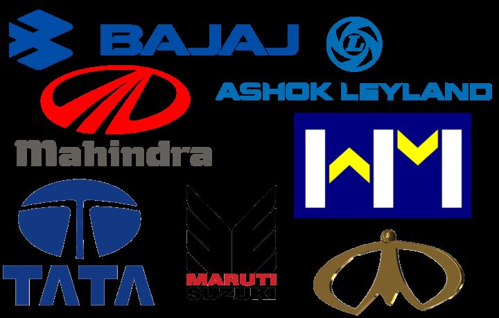 Indian car brands logotypes