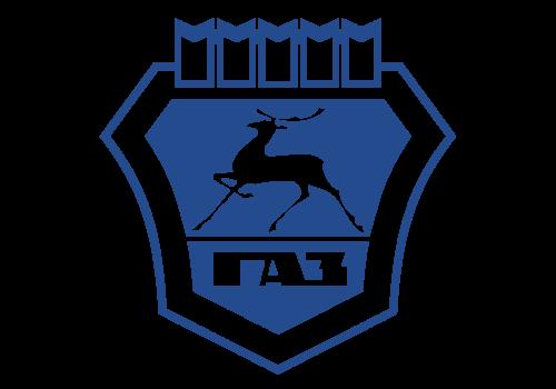 Russian car brands GAZ logotype