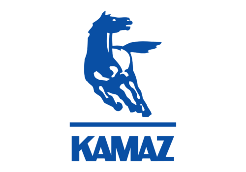 Russian car brands Kamaz logotype