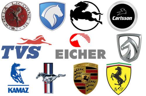 Car logos with horse