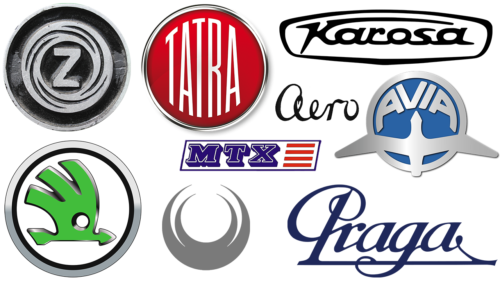Czech car brands logotypes