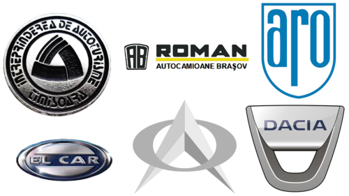 Romanian car brands logotypes